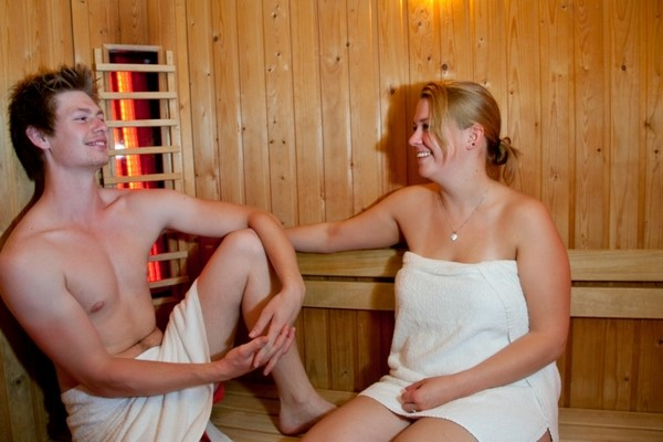 Relax-area, Infrared sauna, Traditional Finish sauna, Terrace, Steamy sauna, Cold bath's, Whirlpool, Hottub, swimming pool